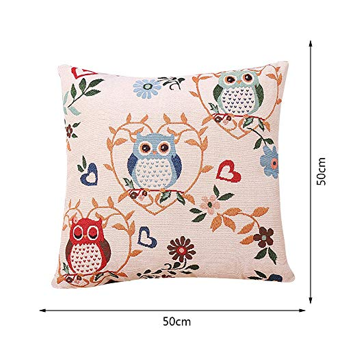Cushion - Owl Cotton Cushion Covers Sofa Cases Linen Decorative Pillows Pillow Cover Coussin - Beats Bike Meditation Denture Slip Stools Sofa Coffee Rug Underwear (Best Price For Bose Quietcomfort 15 Headphones)