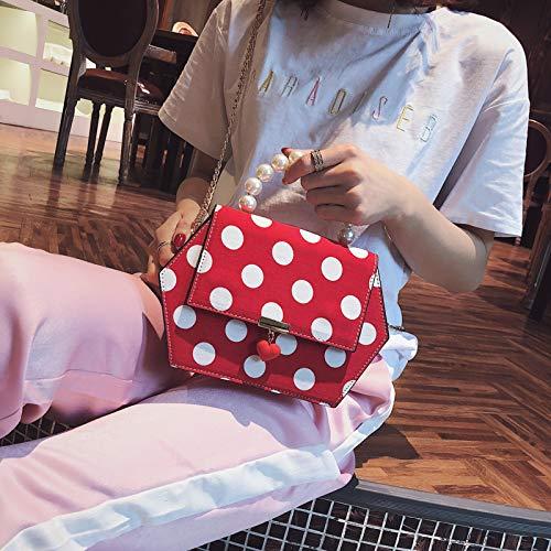 Sac Sac de bandoulière Sauvage marée Femme Rouge Paquet Mode coréenne Sac épaule Version WSLMHH Messenger à chaîne du Main à 6Ywq7z6nf