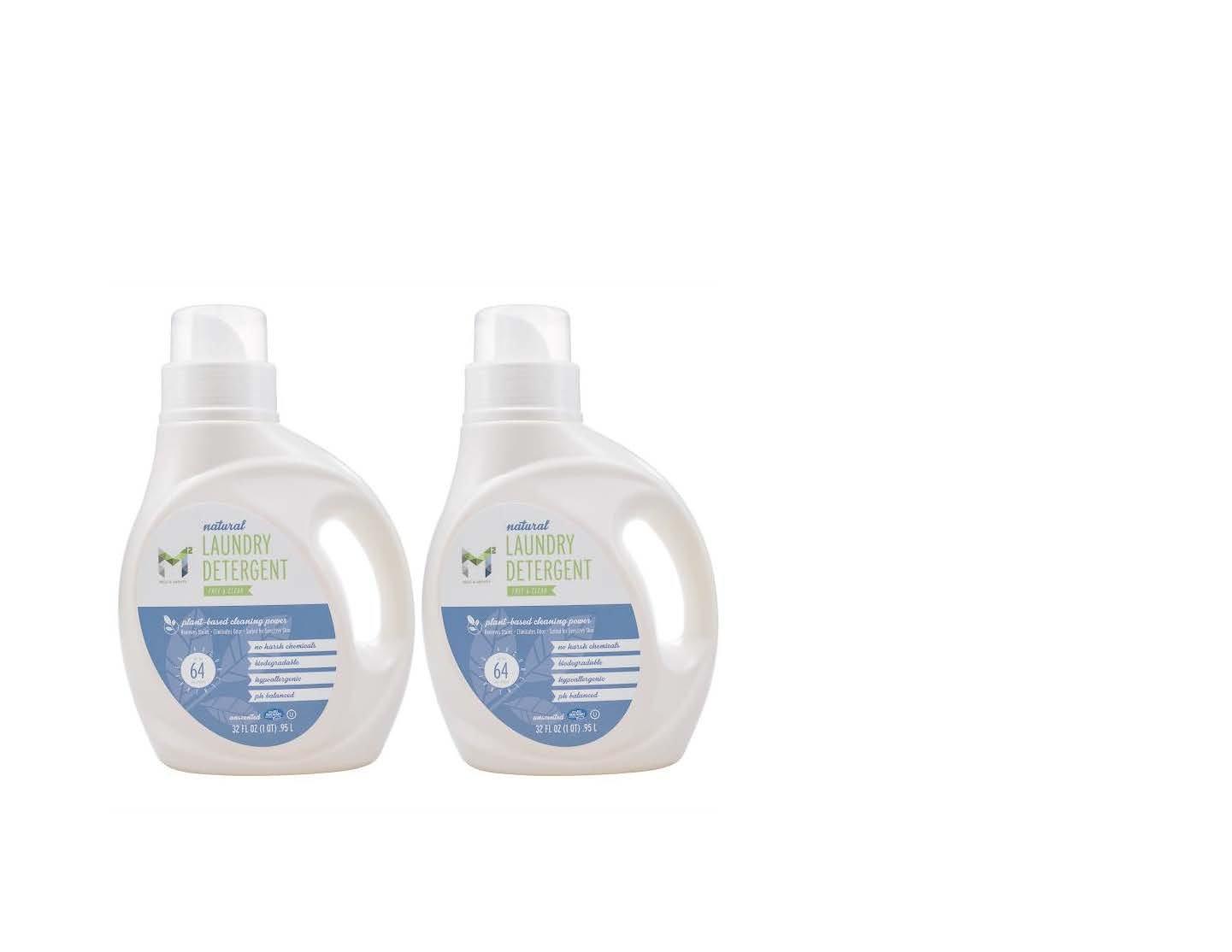 m2ランドリー洗剤フリー&クリアすべて自然32ozパックof 2 B07DL3ZW4L