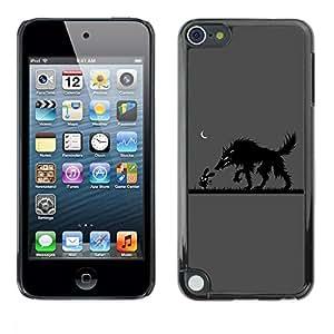 Be Good Phone Accessory // Dura Cáscara cubierta Protectora Caso Carcasa Funda de Protección para Apple iPod Touch 5 // Funny Rabbit & Wolf Friends