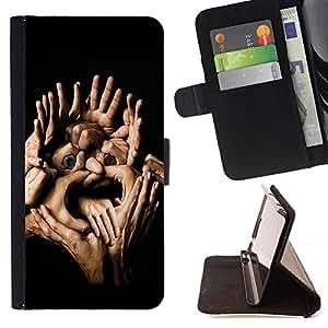 Skull Market - FOR HTC One M8 - you have ceased to live - Caja de la carpeta del tir¨®n del cuero de la PU [con ranuras para tarjetas y cierre de solapa magn¨¦tica] P¨¢rese cubierta de la caja