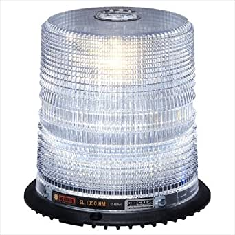 Checkers Industrial Safety Products SL.2250.HSW High Surface LED Beacon, Standard Mount, White/Clear