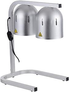 Kanizz Portable Commercial Buffet Heat Lamp Food Warmer Dual Bulb Food Court Restaurant Coffee Shop
