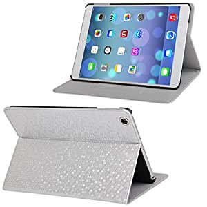 Honeycomb Texture Flip Leather Case with 3 Gears Holder for iPad Air (Silver)