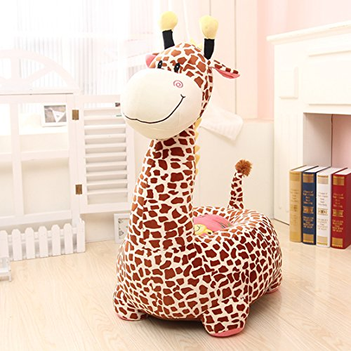 MAXYOYO Kids Plush Riding Toys Bean Bag Chair Seat for Children,Cartoon Cute Animal Plush Sofa Seat,Soft Tatami Chairs,Birthday Gifts for Boys and Girls (brown giraffe)