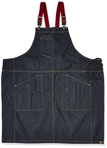 Chef Works Men's Berkeley Bib Apron, Indigo Blue, One Size