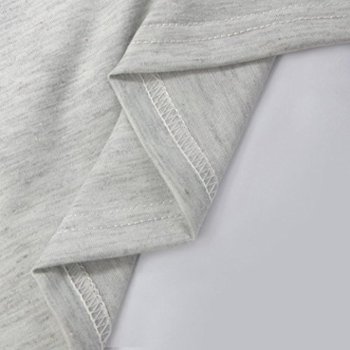 Minikleid Rock T Vintage Langes M Sommer Grau Bluse bescita Stil Urlaub Party Shirt Lässige Frauen xwHRY