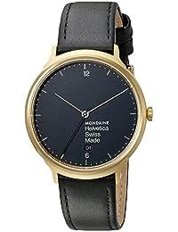 Unisex MH1.L2221.LB Helvetica Analog Swiss Quartz Black Watch