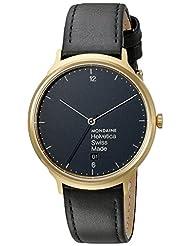 Mondaine Unisex MH1.L2221.LB Helvetica Analog Swiss Quartz Black Watch