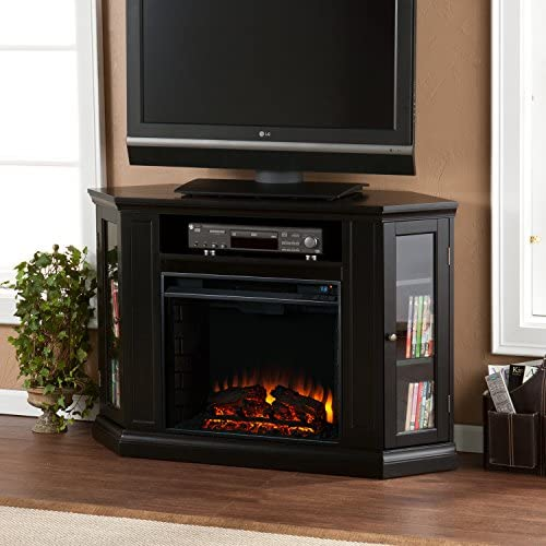 Convertible – Chimenea eléctrica con armario, TV/soporte para consola – negro: Amazon.es: Hogar