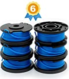 Garden Ninja 0.065'' Replacement Trimmer Spool Compatible Ryobi One+ AC14RL3A, 6-Pack