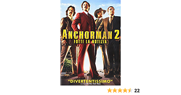 Anchorman 2 - Fotti La Notizia Ex Rental Italia DVD: Amazon ...