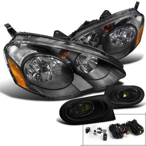 Acura RSX DC5 Jdm Black Headlights+Smoke Fog Bumper Light