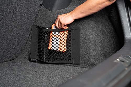515l4ZLTHQL stuff from above ® Aufbewahrungsnetz für Kofferraum in schwarz [2 Stück] - Mit sehr starkem Klett für perfekten Halt auf…