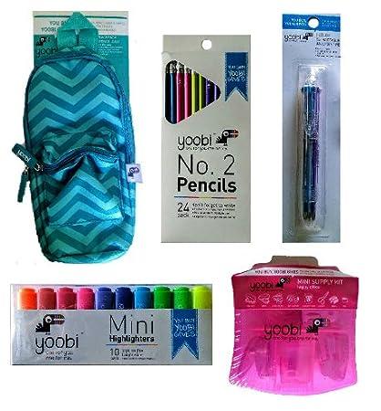 Escuela Suministros Kit: Incluye Mini estuche, diseño de mochila Mini escritorio suministro Kit,