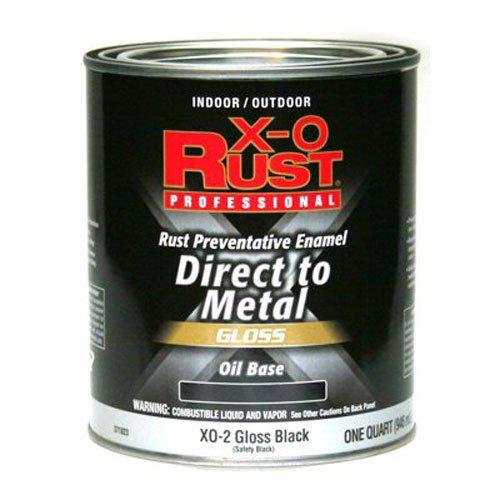 - True Value XO2-QT Black Premium X-O Rust Interior/Exterior Gloss Anti Rust Enamel 1 Quart