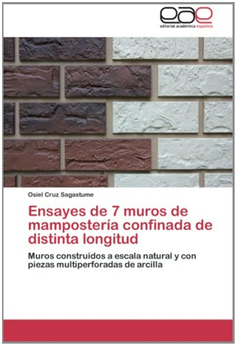 Descargar Libro Ensayes De 7 Muros De Mampostería Confinada De Distinta Longitud: Muros Construidos A Escala Natural Y Con Piezas Multiperforadas De Arcilla Osiel Cruz Sagastume