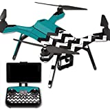 MightySkins Protective Vinyl Skin Decal for 3DR Solo Drone Quadcopter wrap cover sticker skins Teal Chevron