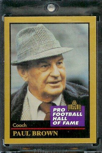 1991 ENOR Football Hall of Fame Football Card #18 Paul Brown