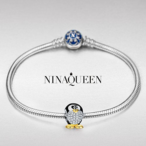 """Valentines Day Gifts, NINAQUEEN """"Animal Fever Collection"""" 925 Sterling Silver Bead Charms"""