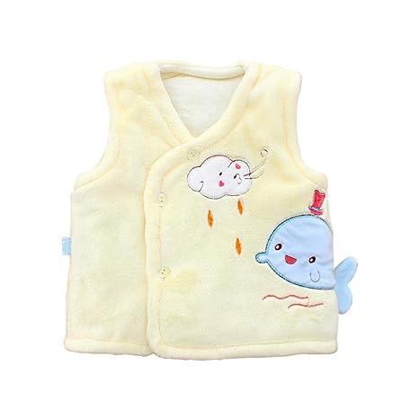 Bebé cálido chaleco de algodón suave abrigo más cálido Outwear para otoño invierno Chaleco de bebé