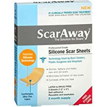 Scar Away Scar Sheets, Silicone 8 ct (Pack of 3)
