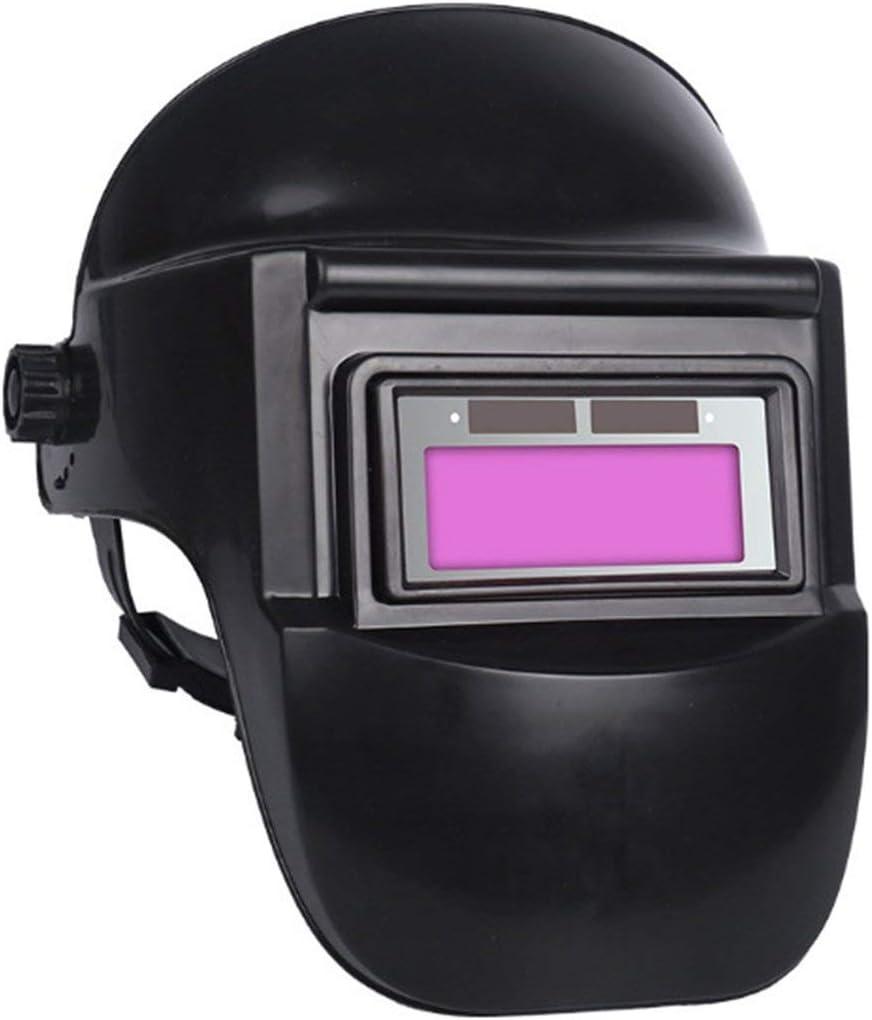 YUIO® BK Máscara de Soldadura Gafas oscurecedoras automáticas Cara Anti hornada Medio Casco Máscara de protección Facial Completa montada en la Cabeza Soldador Especial (Negro)