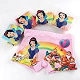 KSHQZ Lot Snow White Princess Kids Girls' Briefs Panties Underpants Underwear 3-11 Years Gifts (3-5Y, 5colour/lot)