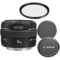 Canon EF 50mm f/1.4 USM Standard Lens for Canon SLR Cameras - Fixed (Certified Refurbished)