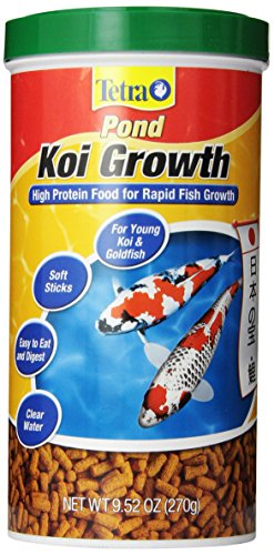 Growth Fish Food - Tetra Pond High Protein Koi Growth Sticks Food, 9.52-Ounce