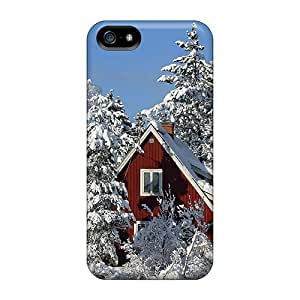 Perfect Winter Mountain Lodge Case Cover Skin For Iphone 5/5s Phone Case