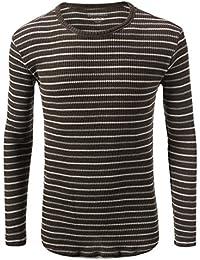 Rue 21 Carbon Stripe Long Sleeve Crewneck Pullover