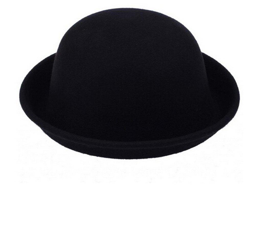 TININNA Vintage Vintage Mujer Sombrero Hongo Gorra Bombín con Visera Curvada Bowler Hat tamaño adult...