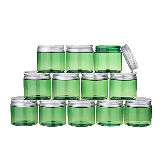 BENECREAT 12 Pack 50ml Tarro Verde de Crema de Cosméticos Botella ...