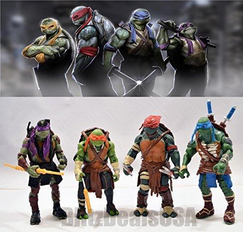 2015 TMNT Teenage Mutant Ninja Turtles 4PCS Action Figures Toys Set Classic @USA