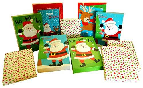 Set of 10 Christmas Gift Boxes, 2 Robe Box, 4 Shirt Box, 4