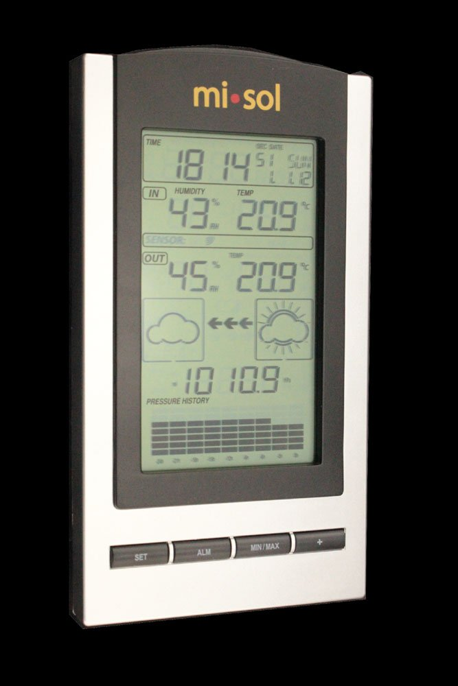 MISOL 1 UNIT of wireless Weather Station with Outdoor Temperature and humidity sensor LCD display, Barometer