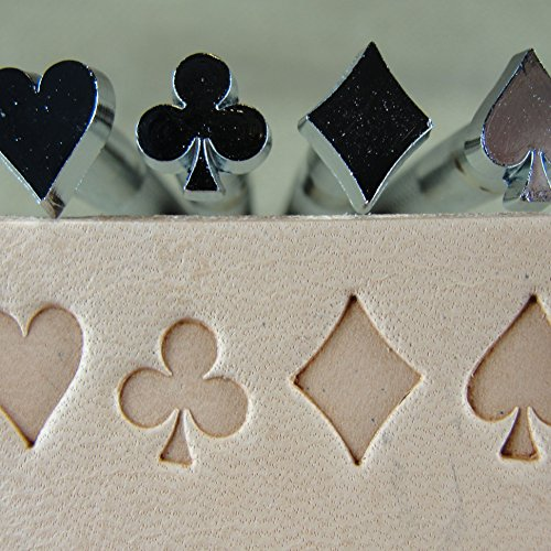 (Craft Japan - Playing Card Suit Stamps (4-Piece Set, Leather Stamping Tools))