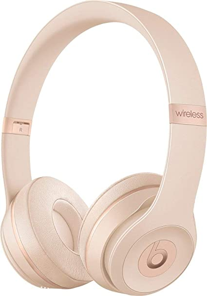 Amazon Com Beats Solo3 Wireless On Ear Headphones Matte Gold Beats By Dr Dre Renewed Home Audio Theater