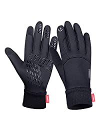 Anqier Winter Gloves,Cold Weather Windproof Thermal Touchscreen Gloves Men Women for Cycling Running Climbing Skiing Driving Outdoor Activities