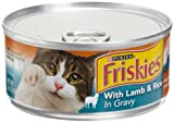 Friskies Cat Food Meaty Bits Senior Diet with Lamb and Rice in Gravy, 5.5-Ounce Cans (Pack of 24), My Pet Supplies