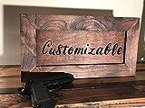 Hidden Gun Storage Secret Compartment Cabinet Customizable, Alder With Red Mahogany Finish