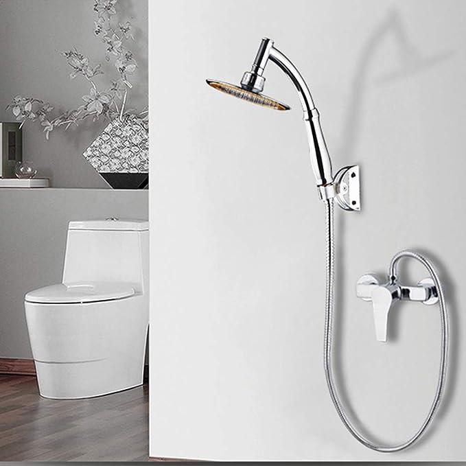 Decdeal Stainless Steel Shower Head High Pressure Spray 360/°Rotatable Adjustable Handheld Showerhead