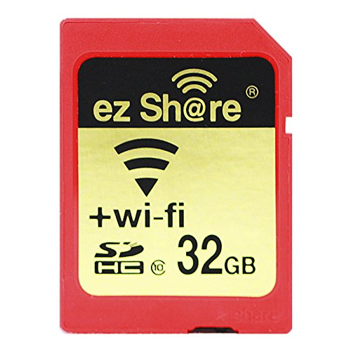 ez Share 8GB 16GB 32 GB Adapter WiFi SDHC Card Class10 SD Card Wireless Camera Memory Card for Camera (32GB)