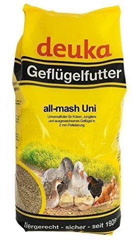 Deuka all mash Uni 5kg Kükenkorn Junghennenfutter Hühnerfutter 3mm Pellet