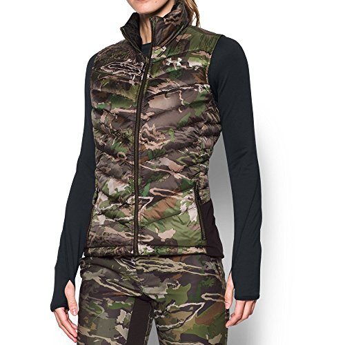 Under Armour Women's Extreme Reversible Vest,Ridge Reaper Camo Fo (944)/Metallic Beige, Large ()
