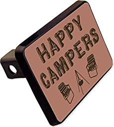 Happy Campers Trailer Hitch Cover Plug Funny Camping Rv Novelty