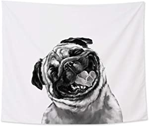 """Home Decoration Funny Bull Dog Wall Tapestry Hanging ¨C Light-Weight Polyester Fabric Wall Decor (59""""x39"""")"""