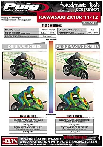 Puig 5603C Bulle Z-Racing Apparence Carbone