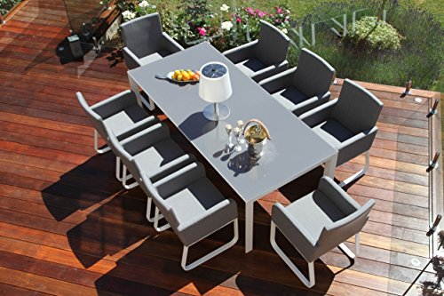 Stoff Cannes Outdoor Garten Möbel Esstisch Set Stühle: Amazon.de ...